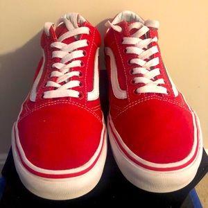 VANS Old Sokol Skate Shoe - Red - M 6 / W 7.5